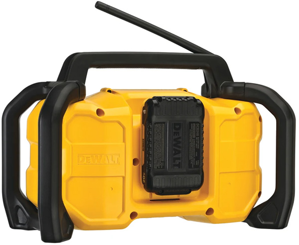 Dewalt DCR028 Cordless Bluetooth Radio Rear Battery Compartment