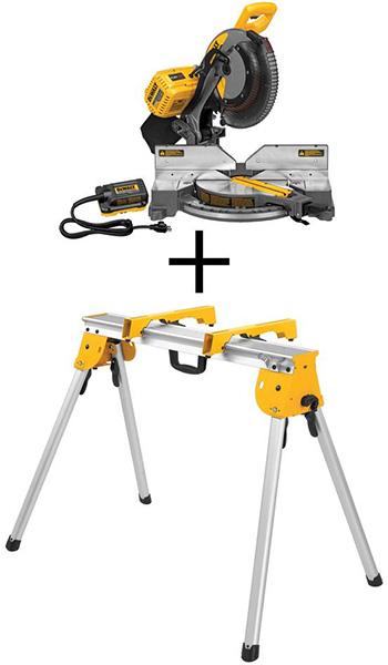 Home Depot Dewalt Milwaukee Tool Deals of the Day 4-23-20 FlexVolt Miter Saw Bundle