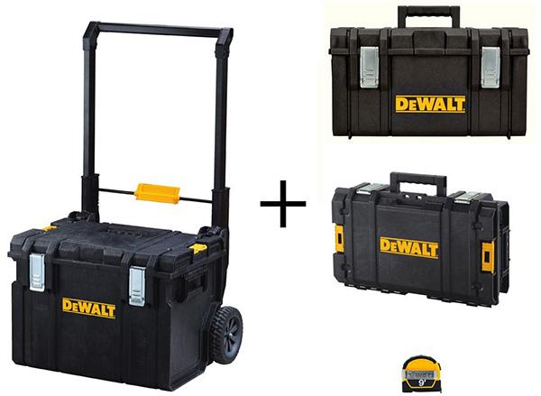 Home Depot Dewalt Milwaukee Tool Deals of the Day 4-23-20 ToughSystem Tool Box Bundle