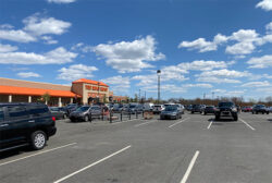 Home Depot Store Crowds COVID-19 Lockdown 4-11-2020 Side View