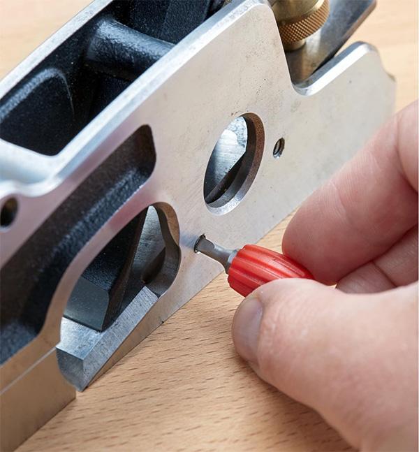 Lee Valley Fingertip Screwdriver Bit Holder Used on Woodworking Plane