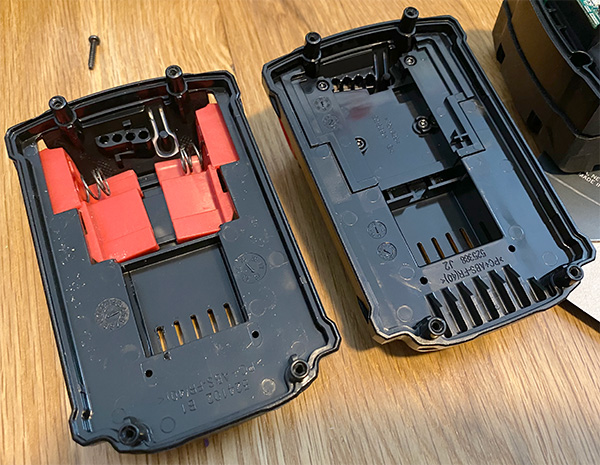 Milwaukee M18 Battery Pack Cross-Generational Spring Latch Differences
