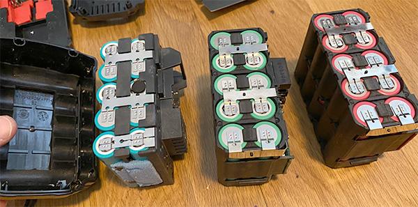 Milwaukee M18 Battery Packs Internal Comparison