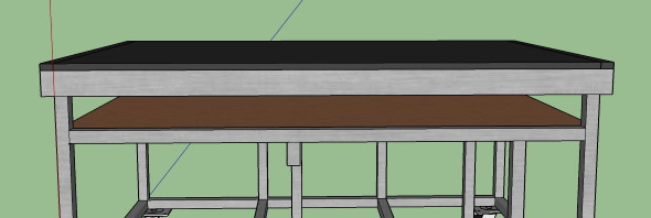 My DIY Multi-Function Table - Part 1 Goals and the Frame - SketchUp Top Design