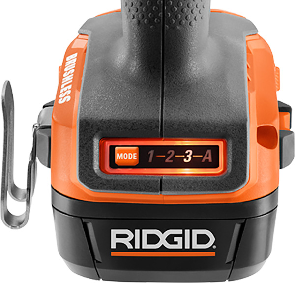 Ridgid 18V SubCompact Cordless Power Tools Launch 2020 Impact Wrench R87207B Mode Selection