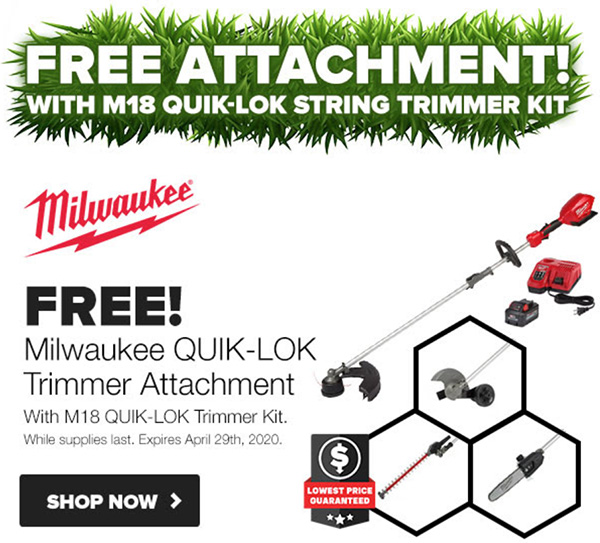 Tool Nut Spring Black Friday 2020 Milwaukee M18 Quik-Lom String Trimmer Bundle Kit