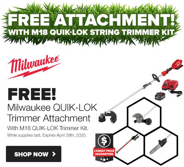 Tool Nut Spring Black Friday 2020 Milwaukee M18 Quik-Lom String Trimmer Bundle Kit