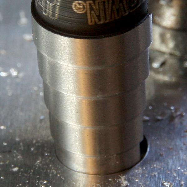 Unibit Step Drill Bit Hole