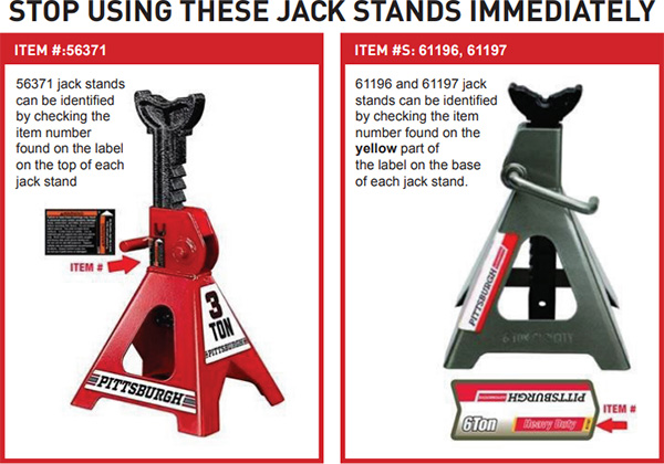 Harbor Freight Jack Stands Recall 2020