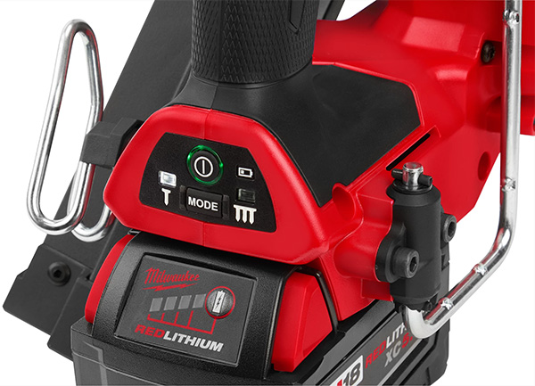 Milwaukee Cordless Framing Nailers User Controls and Belt Rafter Clips