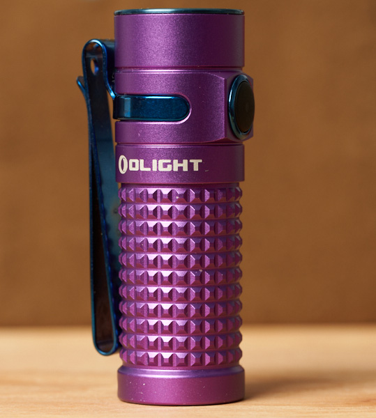Olight SR1 Baton LED Flashlight Purple Special Edition