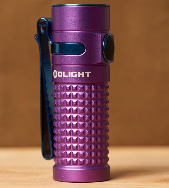 Olight SR1 Baton LED Flashlight Purple Special Edition