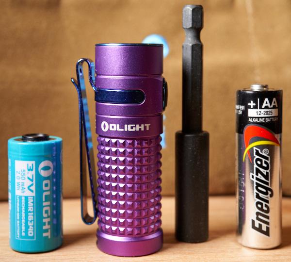Olight SR1 Baton LED Flashlight Size