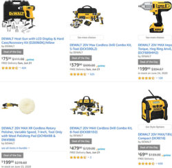 Dewalt Cordless Power Tool Deals of the Day at Amazon 6-19-20