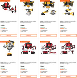 Home Depot Dewalt and Milwaukee Cordless Power Tool Deals of the Day 6-15-20 Page 1