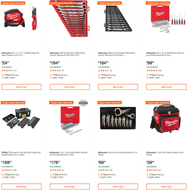 Home Depot Dewalt and Milwaukee Cordless Power Tool Deals of the Day 6-15-20 Page 10