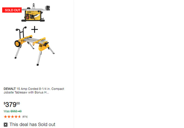 Home Depot Dewalt and Milwaukee Cordless Power Tool Deals of the Day 6-15-20 Page 11