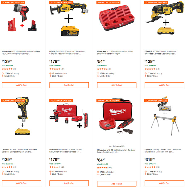Home Depot Dewalt and Milwaukee Cordless Power Tool Deals of the Day 6-15-20 Page 4