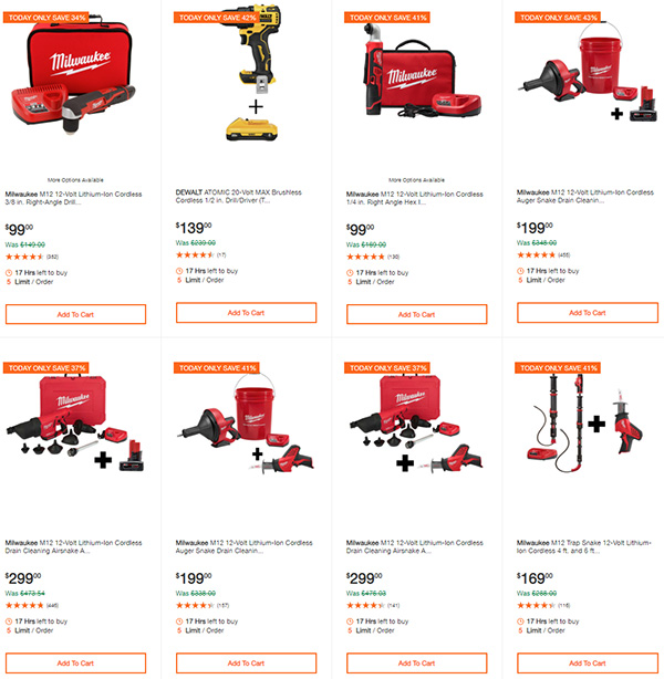Home Depot Dewalt and Milwaukee Cordless Power Tool Deals of the Day 6-15-20 Page 5