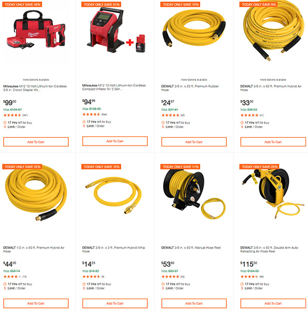 Home Depot Dewalt and Milwaukee Cordless Power Tool Deals of the Day 6-15-20 Page 6