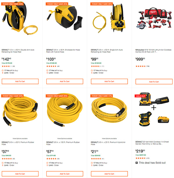 Home Depot Dewalt and Milwaukee Cordless Power Tool Deals of the Day 6-15-20 Page 7