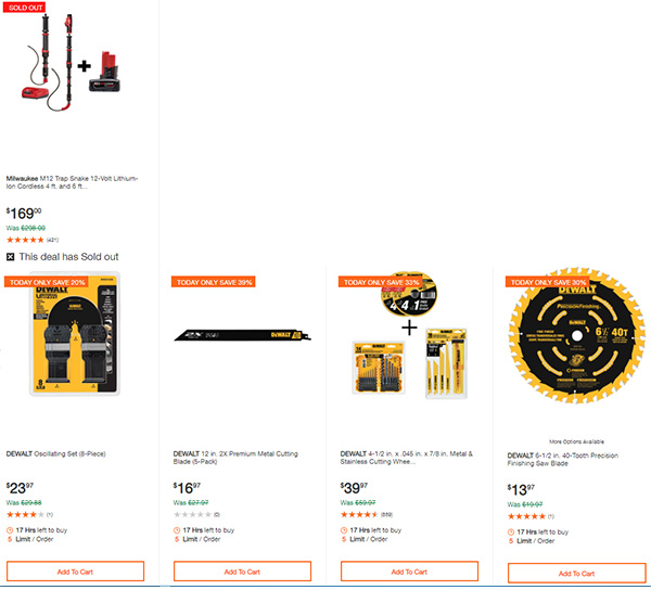 Home Depot Dewalt and Milwaukee Cordless Power Tool Deals of the Day 6-15-20 Page 8