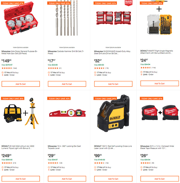 Home Depot Dewalt and Milwaukee Cordless Power Tool Deals of the Day 6-15-20 Page 9
