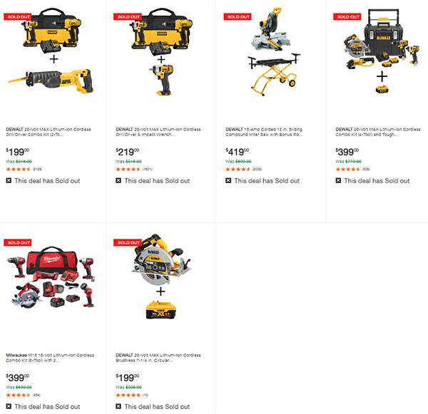 Home Depot Milwaukee Dewalt Tool Deals of the Day 6-8-20 Page 3