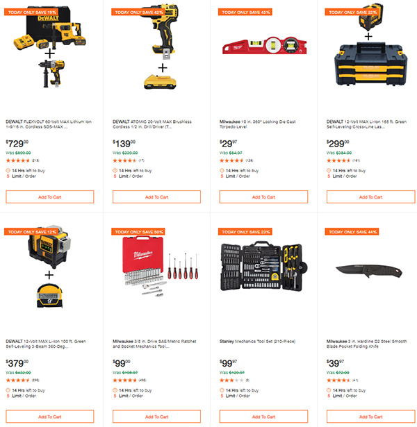 Home Depot Milwaukee Dewalt Tool Deals of the Day 6-8-20 Page 7