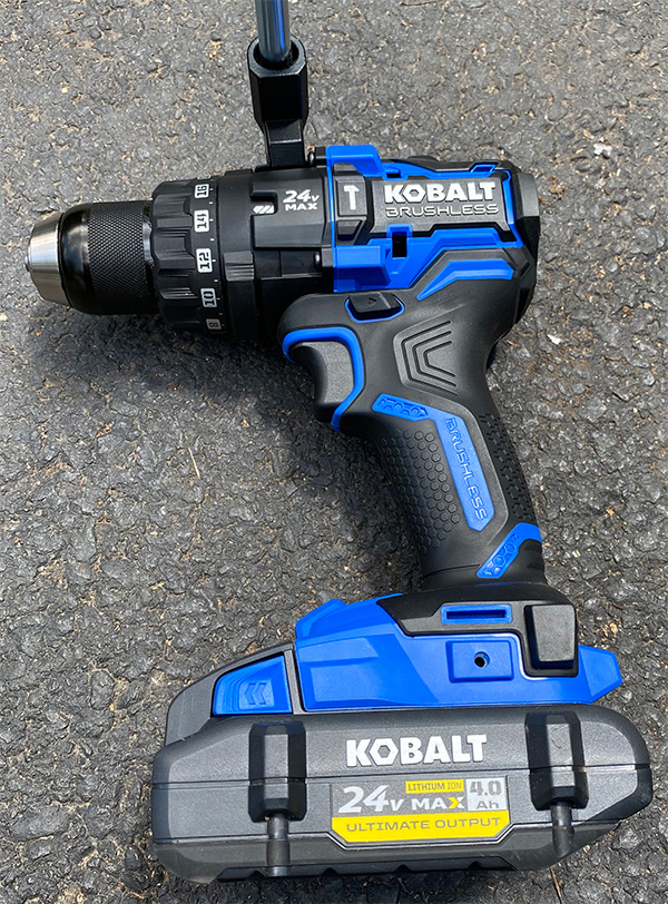 Kobalt 24V Max XTR Cordless Drill Driver on Ground