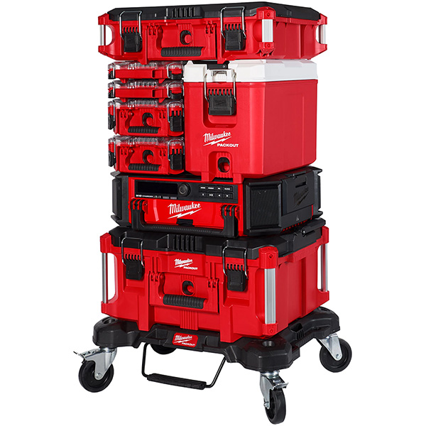 Milwaukee Packout Cooler Tool Box in Middle of Stack