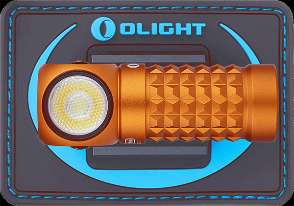 Olight Mini Perun LED Headlamp Orange with Backing