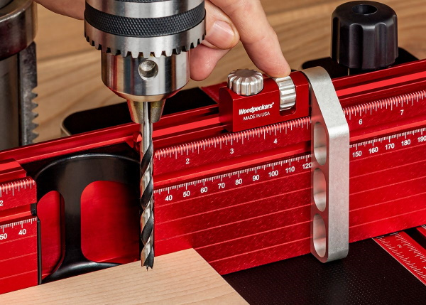 Woodpecker Pro Drill Press Table - Dial Gauge