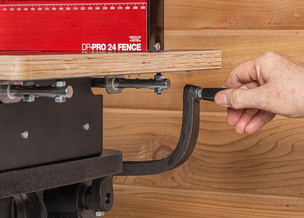 Woodpecker Pro Drill Press Table - Drill Press handle clearance