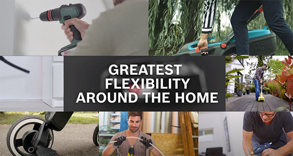 Bosch 18V Cordless Power Tool Alliance Flexibility Around Your Home