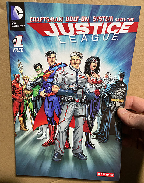 Craftsman Bolt-On Saves DC Justice League Comic Book