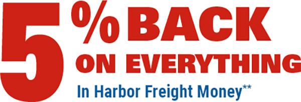 Harbor Freight Credit Card Cash Back Offer
