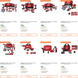 Milwaukee Cordless Power Tools Deals of the Day Home Depot 7-13-20 Page 1