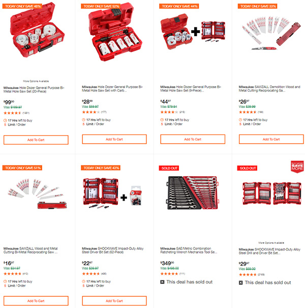 Milwaukee Cordless Power Tools Deals of the Day Home Depot 7-13-20 Page 6