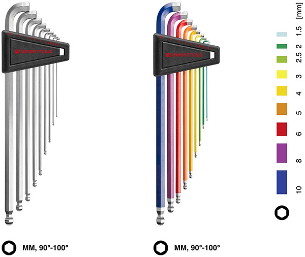 PB Swiss 90-100 Hex Key Sets
