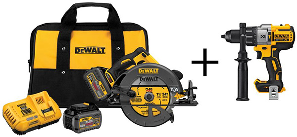 Dewalt FlexVolt Circular Saw and Drill Deal Bundle