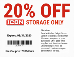 Harbor Freight Icon Coupon August 2020