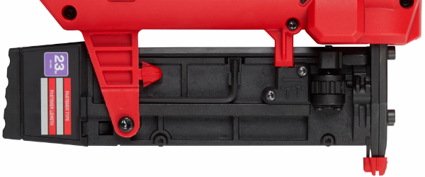 Milwaukee M12 23 Gauge Pin Nailer Magazine View