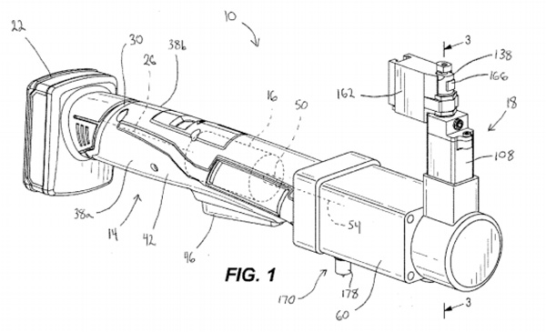 Milwaukee M12 Cordless Nibbler Patent Drawing