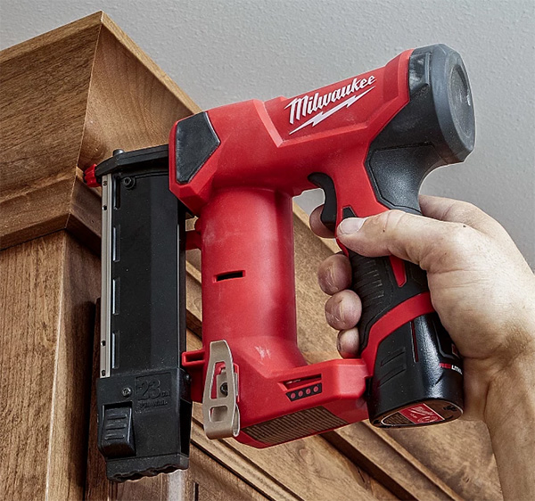 Milwaukee M12 Fuel Cordless Pin Nailer Used Overhead