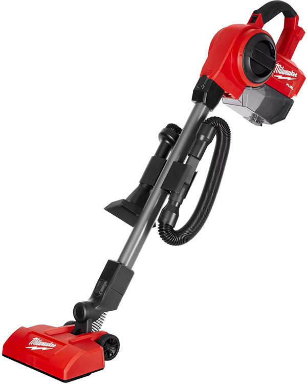 Milwaukee M18 Fuel Compact Vacuum Floor Brush Configuration with Accessory Storage
