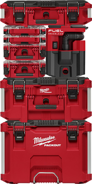 Milwaukee Packout Vacuum in a Tool Box Stack