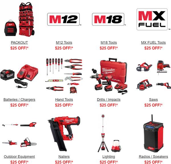 Milwaukee Tool Flash Sale Tool Nut 8-25-20 Categories