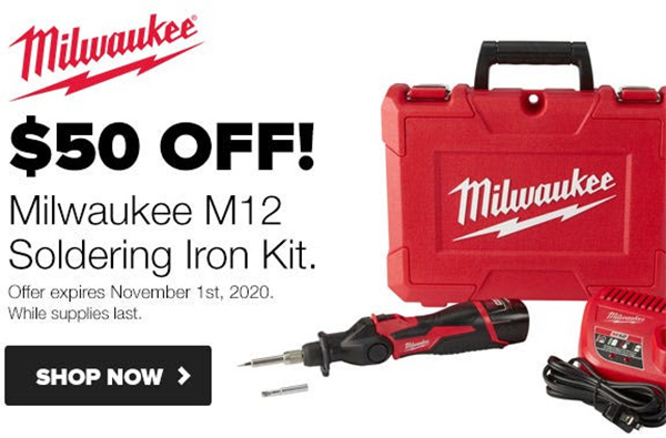 Milwaukee Tool M12 Cordless Soldering Iron Deal