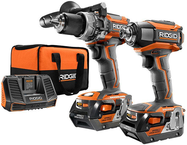 Ridgid Brushless Drill Impact Driver Combo kit+